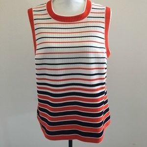 Vintage Mod Striped sleeveless shirt USA made